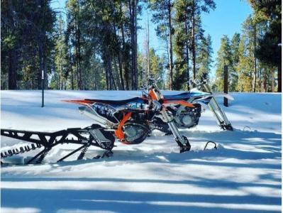 Snow Biking in Copper Mountain